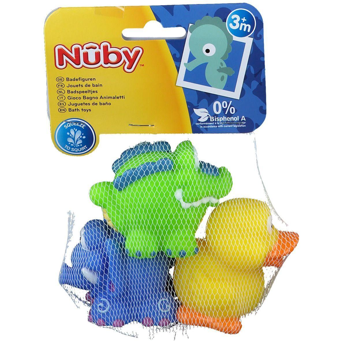 Nûby Jouets de bain Fun Squirters™ Canard - Crocodile -Eléphant 4 mois pc(s) Autre