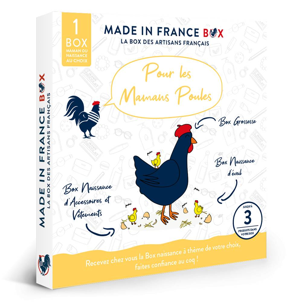MADE IN FRANCE BOX Coffret cadeau Pour les mamans poules !