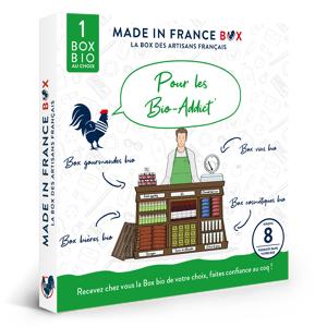 MADE IN FRANCE BOX Coffret cadeau Pour les Bio Addicts - Publicité