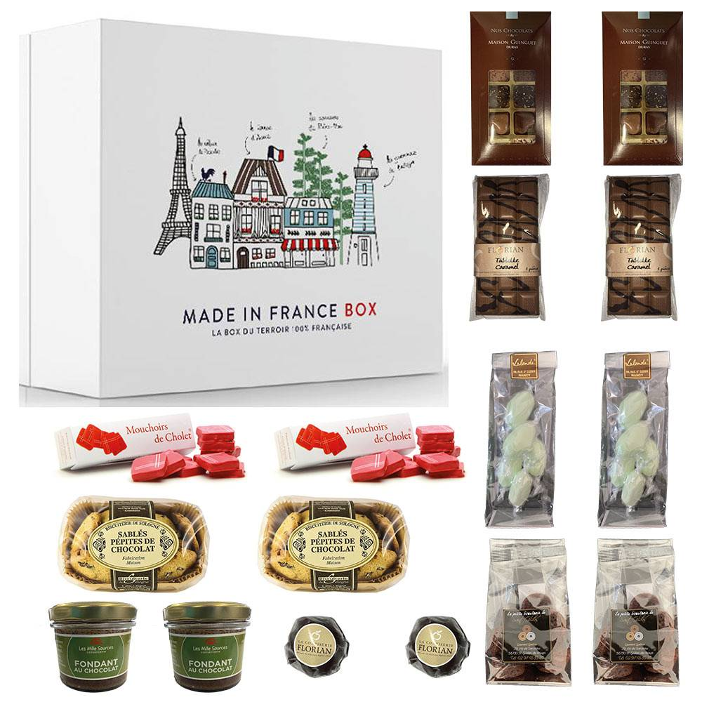 MADE IN FRANCE BOX Box 100% chocolat DUO