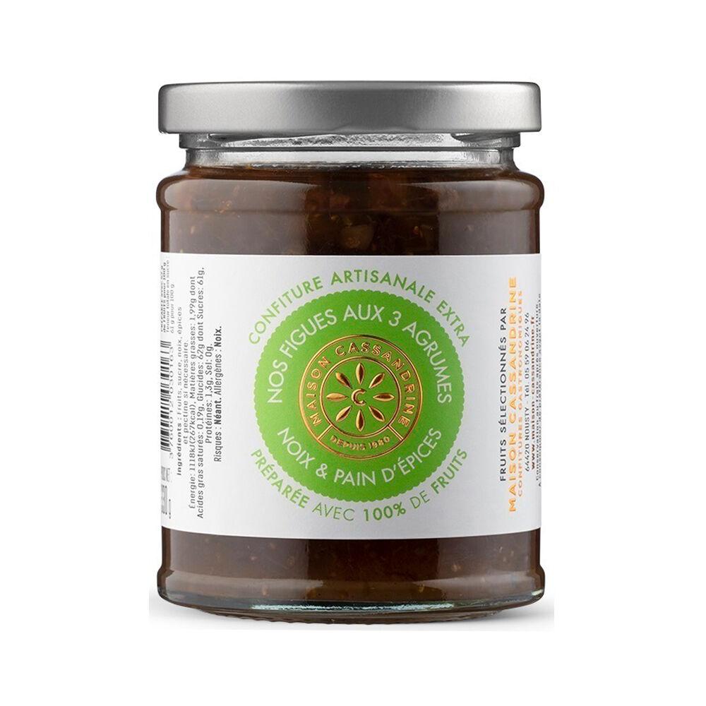 MADE IN FRANCE BOX Confiture artisanale aux figues aux 3 agrumes noix et pain d'épices 110G â e Maison Cassandrine