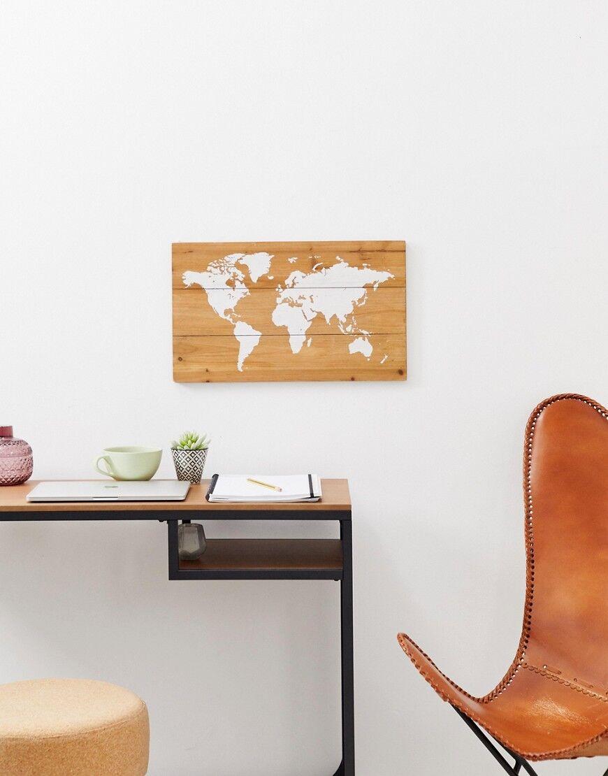 Chickidee - Tableau en bois à punaiser carte du monde - Multi