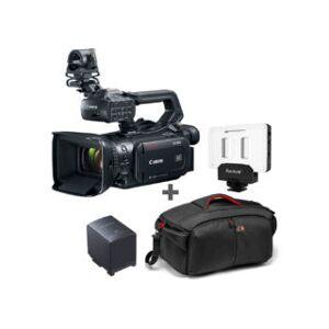 CANON kit caméscope de poing XF405 + batterie + torche LED APUTURE ...