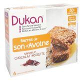Dukan barres de son d'avoine chocolat noisette 6 barres