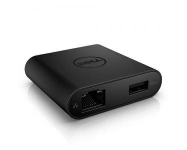DELL DA200 USB 3.0 (3.1 Gen 1) Type-A Noir
