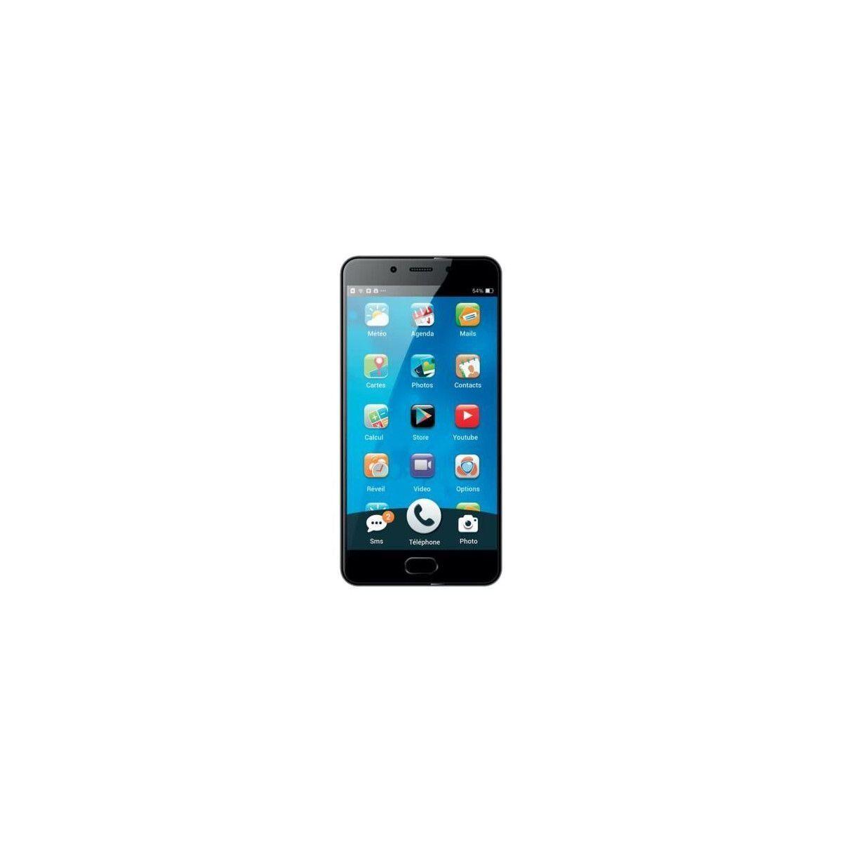 ORDISSIMO Smartphone LeNumero1 - 4G LTE - Android 6.0 adapte - Grand ecran 5.5 - Acces simplifie aux principales fonctions
