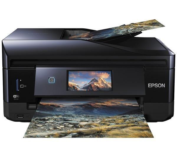 EPSON Expression Premium XP-830 - Imprimante multifonctions - couleur - jet d'encre - A4/Legal (support) - jusqu'à 32 ppm (impression) - 120 feuilles - 33.6 Kbits/s - USB, LAN, Wi-Fi(n), hôte USB