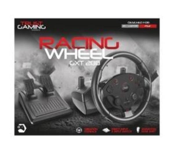 TRUST GXT 288 Racing Wheel - Ensemble volant et pédales - filaire - pour PC, Sony PlayStation 3