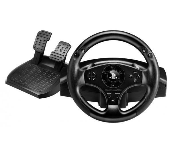 THRUSTMASTER Ensemble de pilotage sous licence officielle PlayStation avec volant et pédalier T80 Racing Wheel (compatible PS4 et PS3)