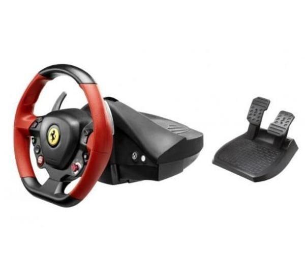 THRUSTMASTER Ensemble de pilotage avec volant et pédalier Ferrari 458 Spider Racing Wheel