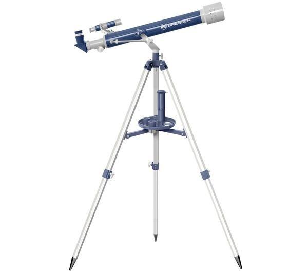 BRESSER lunette astronomique junior 60/700 mm bleu/gris
