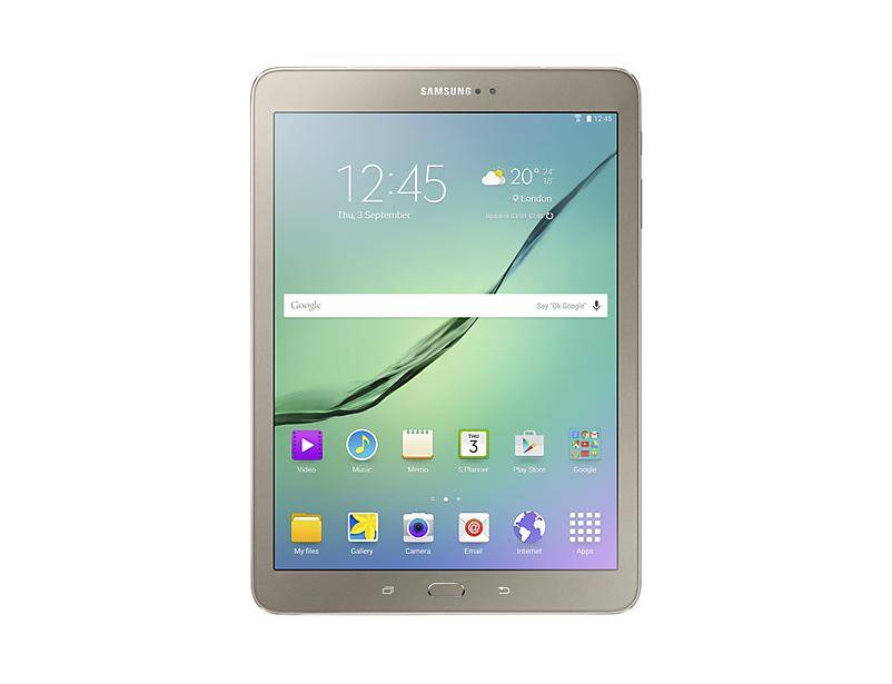 "SAMSUNG Galaxy Tab S2 - Tablette - Android 6.0 (Marshmallow) - 32 Go - 9.7"" Super AMOLED ( 2048 x 1536 ) - Appareil-photo arrière+ appareil-photo avant - Logement microSD - Wi-Fi, Bluetooth - 4G - or"