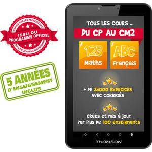 THOMSON TEO-QD7BK8E Tablette Internet - Allwinner A33 Quad-Core 1.2 GHz 1 Go DDR3 8 Go 7' TN Tactile Wi-Fi N/Bluetooth Webcam Android 5.0