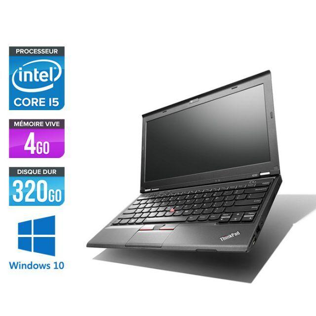 LENOVO ThinkPad X230 - PC portable - 12.5'' HD - Noir (Intel Core i5-3320M / 2.60 GHz, 4 Go de RAM, Disque dur 320 Go, Webcam, Windows 10)