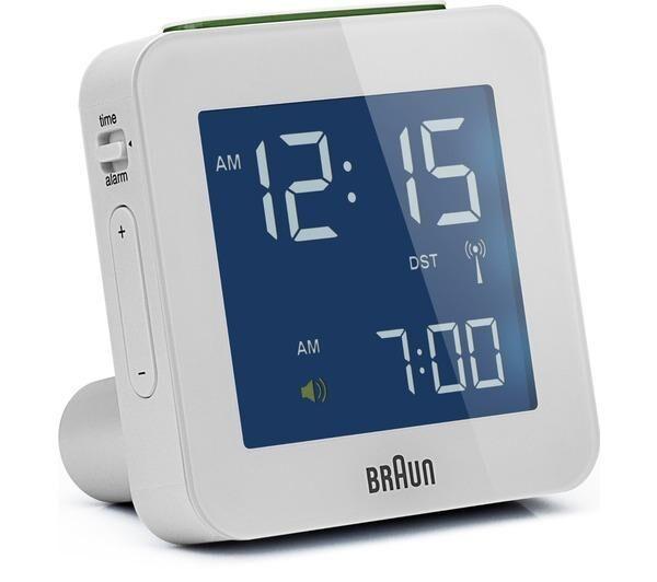 BRAUN Réveil radiopiloté multibande XL (l x H x p) 75 x 75 x 45 mm-Horloges de table et réveils digitaux