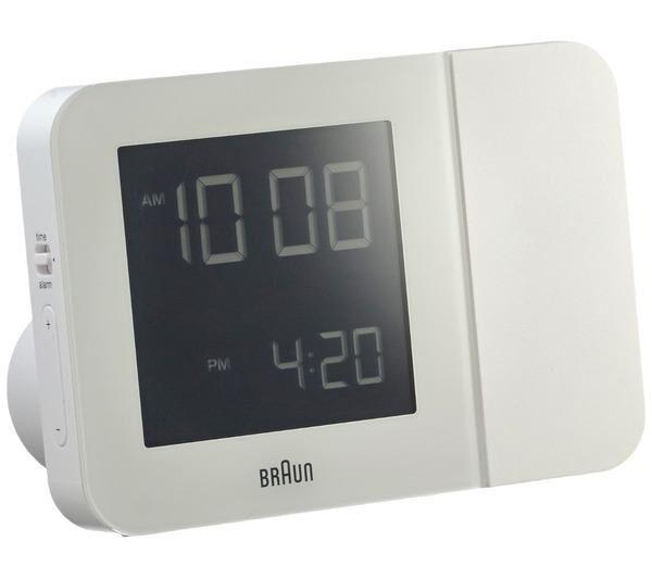 BRAUN bnc 015 projection clock blanc