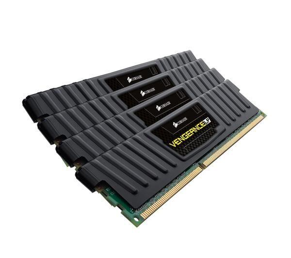 CORSAIR Vengeance Low Profile Series 32 Go (4x 8 Go) DDR3 1600 MHz CL10 - Kit Quad Channel 4 barrettes de RAM DDR3 PC128