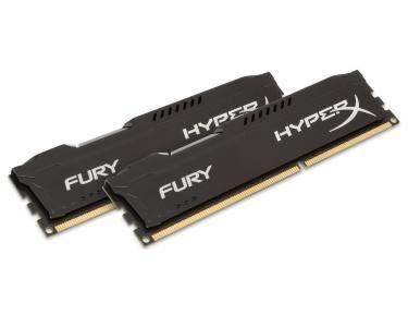 KINGSTON HyperX FURY Black 16GB 1600MHz DDR3 16Go DDR3 1600MHz module de mémoire