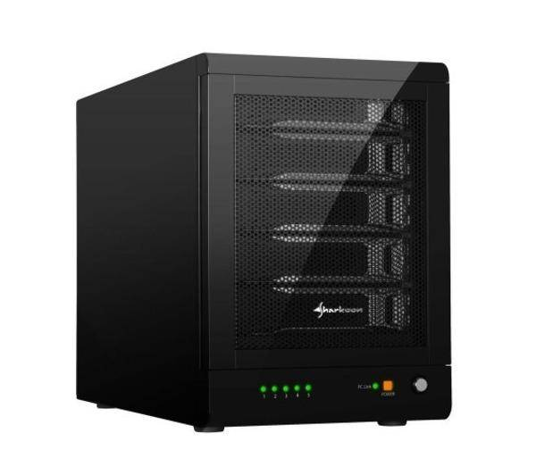 SHARKOON Boitier RAID USB 3.0/eSATA - 5x Disque Dur 2,5''''/3.5'''' SATA - 5-Bay RAID-Station - Noir