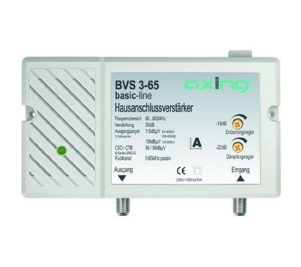 AXING Amplificateur de raccordement d'immeuble BVS 3-65-Répartiteur et matériel d'installation