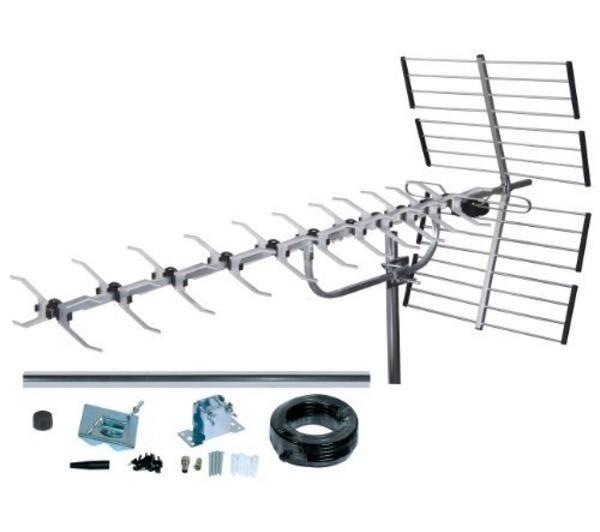 SLX Kit Antenne TNT numérique 64 Eléments Argent