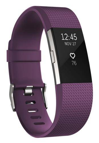 FITBIT Charge 2 Wristband activity tracker Violet, Argent OLED Sans fil