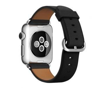 APPLE MLHG2ZM/A Bande Noir Cuir accessoire pour smartwatch
