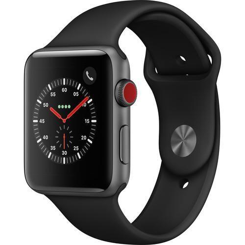 APPLE Watch Serie 3 42mm GPS + Cellular Alu. Gris Sidéral Bracelet Sport Noir