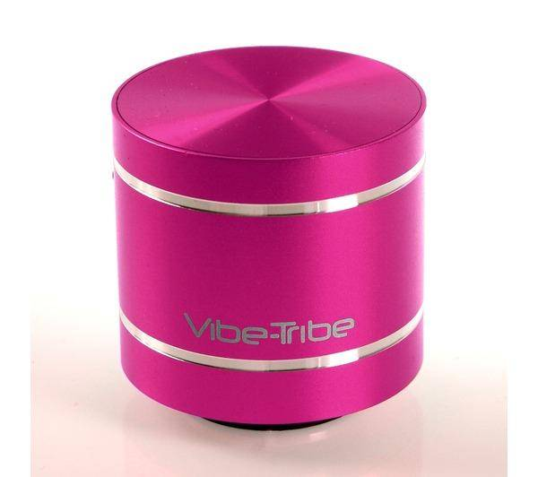 VIBE-TRIBE Troll Magenta: Haut-parleurs a Vibration multimédia & MP3 Player, Radio FM, SD card reader & Remote Control