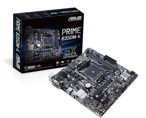 ASUS B350M-K Emplacement AM4 AMD B350 micro ATX