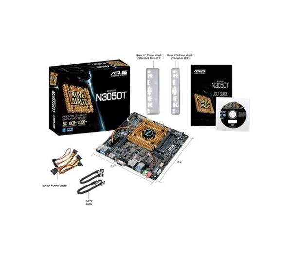 ASUS Carte mère N3050T Standard Intel SoC DDR3 1600/1066 MHz Thin Mini ITX (DC on board)