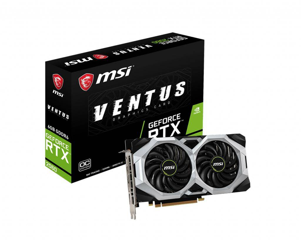 MSI V375-017R carte graphique GeForce RTX 2060 6 Go GDDR6
