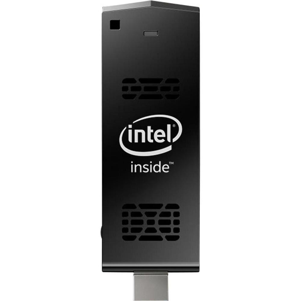 INTEL Compute Stick STK1AW32SC - Clé - 1 x Atom x5 Z8300 / 1.44 GHz - RAM 2 Go - flash - eMMC 32 Go - HD Graphics - LAN sans fil: Bluetooth 4.0, 802.11a/b/g/n/ac - Win 10 Familiale 32 bits - moniteur : aucun BOXSTK1AW32SC