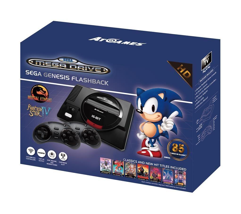 ATGAMES Console Retro Sega Mini Megadrive HD + 85 jeux - édition gold 2017-2018