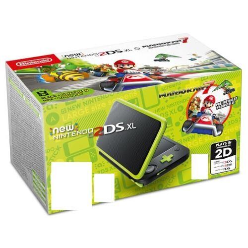 """NINTENDO New 2DS XL + Mario Kart 7 console de jeux portables Noir, Vert, Citron vert 12,4 cm (4.88"""") Écran tactile Wifi"""