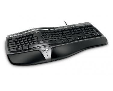 MICROSOFT Natural Ergonomic Keyboard 4000 USB QWERTY Anglais Noir clavier