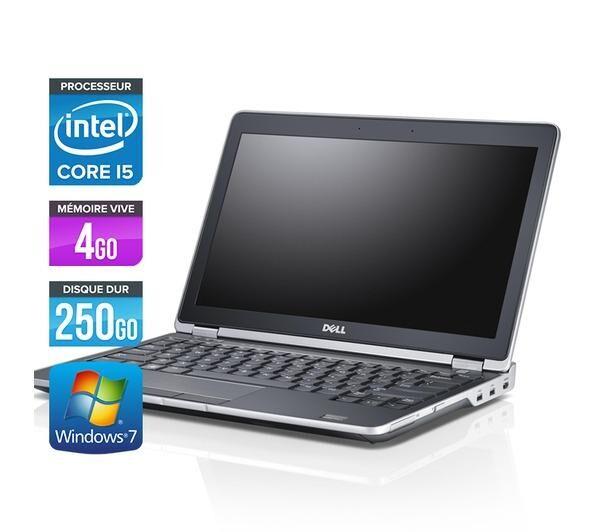 DELL Latitude E6230 - PC portable - 12.5'' - Gris (Intel Core i5-3320M / 2.60 GHz, 4 Go de RAM, Disque dur 250 Go, HDMI, Wifi, Windows 7 Professionnel)