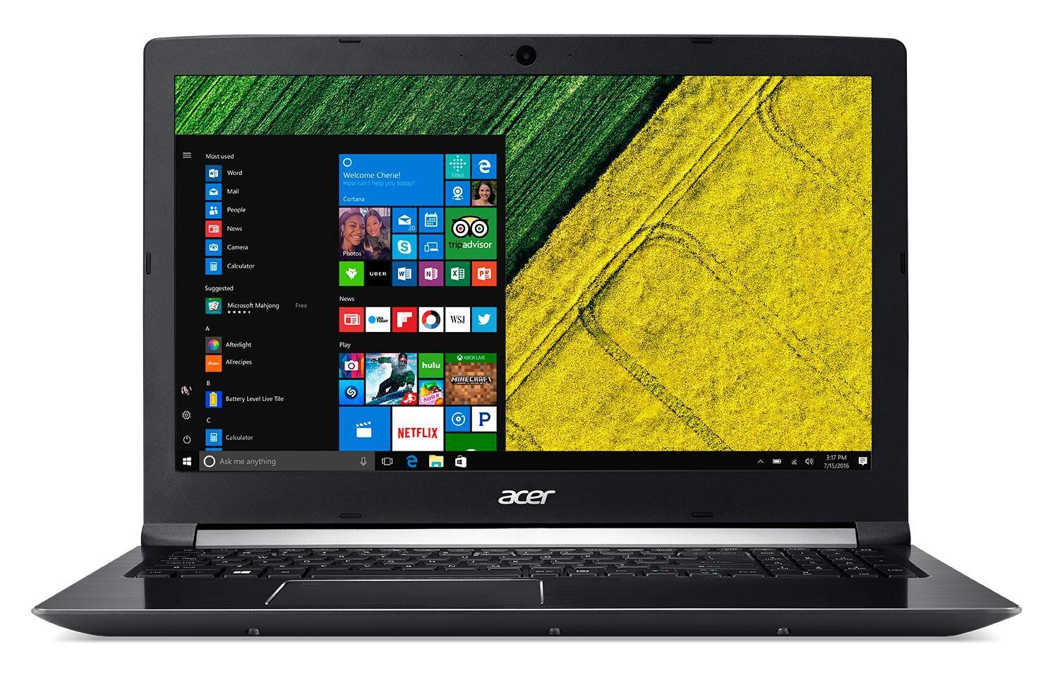 """ACER Aspire A715-72G-78HK Noir Ordinateur portable 39,6 cm (15.6"""") 1920 x 1080 pixels 2,20 GHz Intel® Core? i7 de 8e génération i7-8750H"""