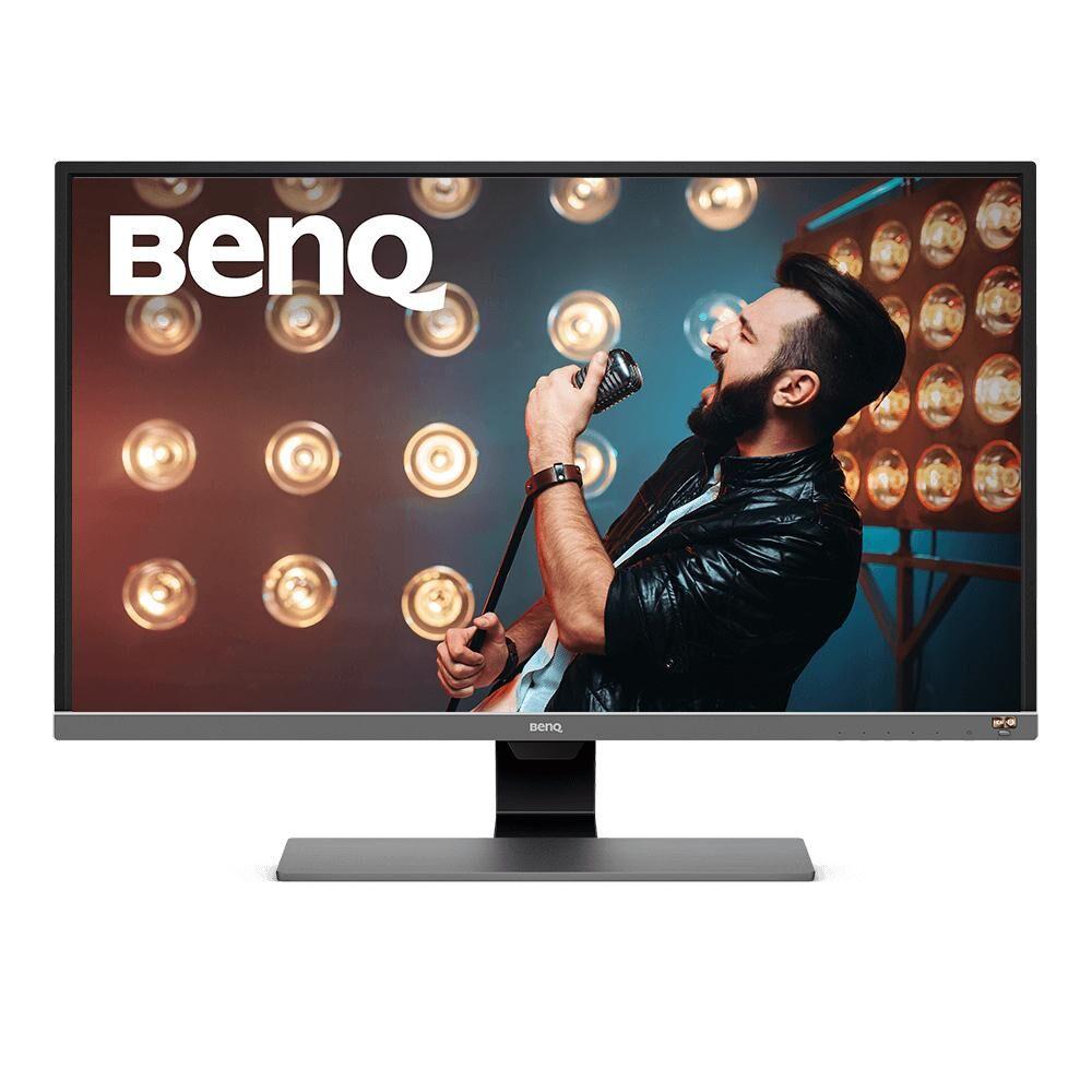 """BENQ EW3270U écran plat de PC 80 cm (31.5"""") 4K Ultra HD LED Noir, Gris, Métallique"""