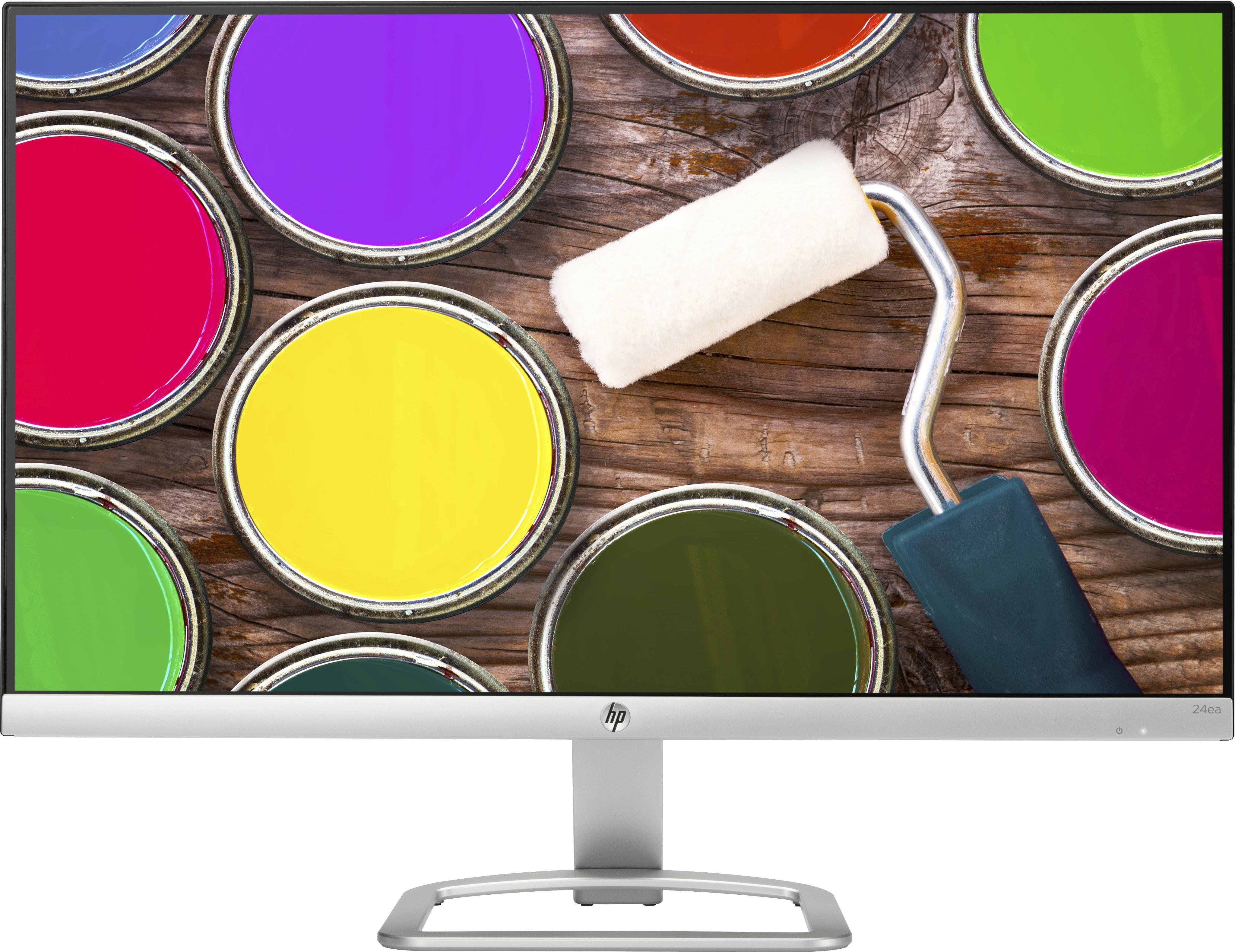 """HP 24ea écran plat de PC 61 cm (24"""") Full HD LED Argent, Blanc"""