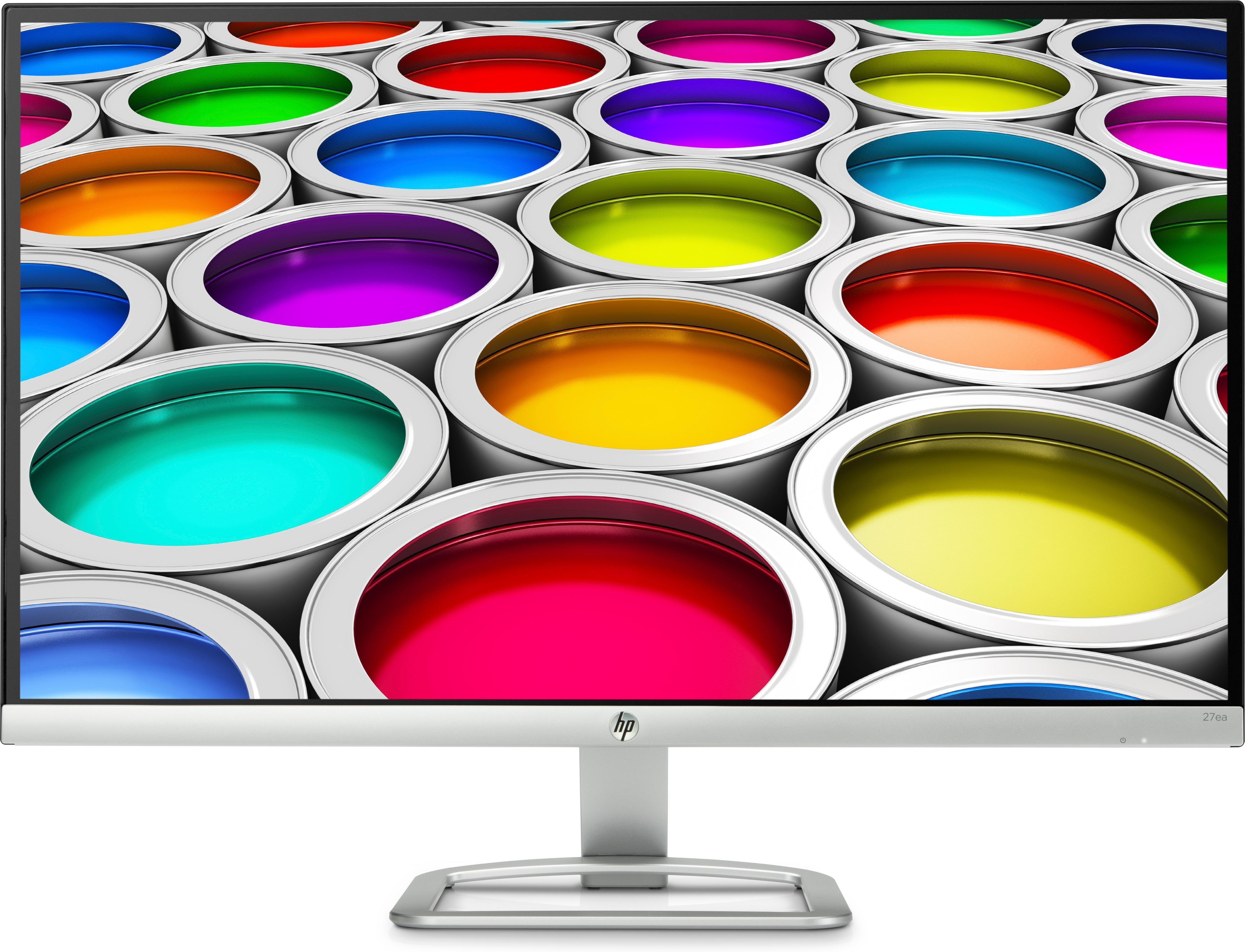 """HP 27ea écran plat de PC 68,6 cm (27"""") Full HD LED Argent, Blanc"""
