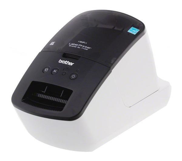 BROTHER Etiqueteuse QL-710W blanc / noir, USB 3.0 / WLAN Imprimante d'étiquettes Plug-In et la fonction de l'étiquette USB 3.0 / WLAN