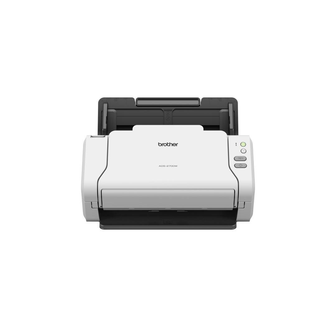 BROTHER ADS-2700W scanner 600 x 600 DPI Scanner ADF Noir, Blanc A4
