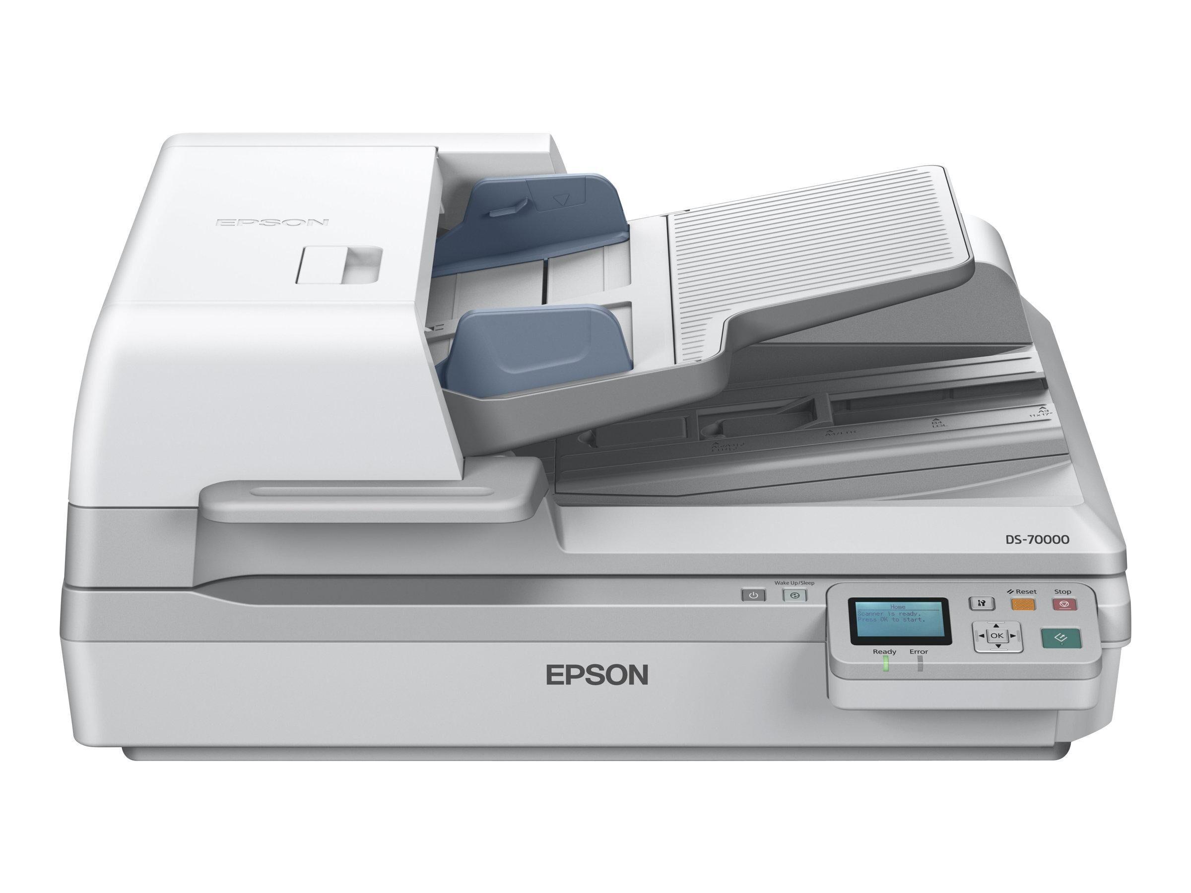 EPSON Scanner WorkForce DS-70000N - A3 - Ethernet + Chargeur d'originaux Recto Verso un seul passage + Suite logicielle