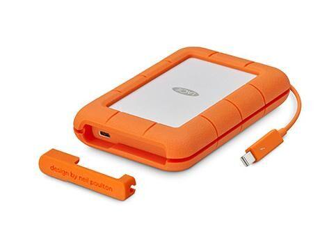 LACIE STFS500400 lecteur à circuits intégrés externe 500 Go Orange, Blanc