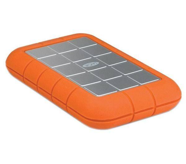 LACIE Disque dur externe portable Rugged Triple - 1 To, orange