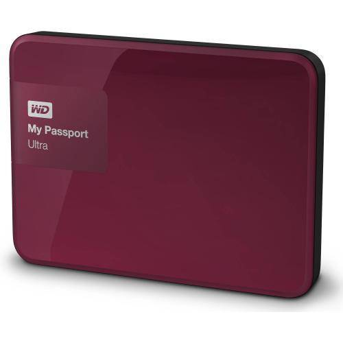 WESTERN DIGITAL My Passport Ultra - 2 To - Wild Berry - Disque dur externe