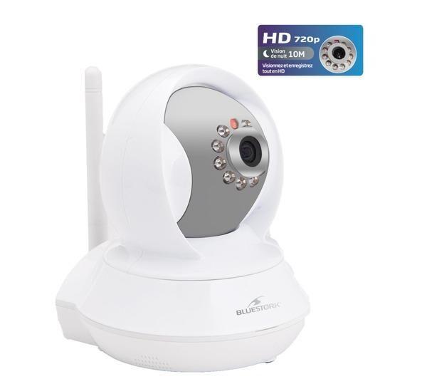 BLUESTORK Caméra IP BS-CAM/R/HD motorisée vision nocturne Wi-Fi
