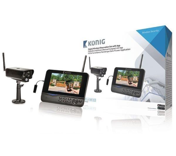 KÖNIG Kit de caméra digital sans fils avec moniteur 2.4 Ghz - 1x Camera