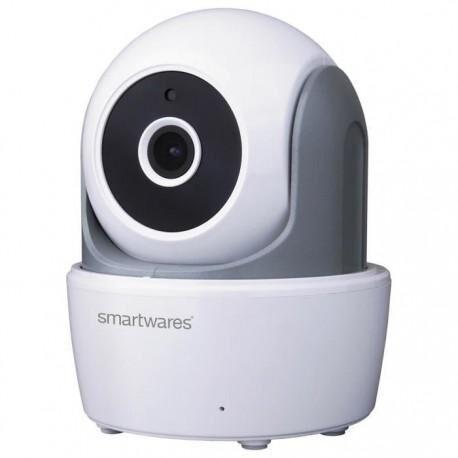 SMARTWARES Caméra de surveillance IP motorisée et connectée HD 720P LAN/ WiFi pour intérieur